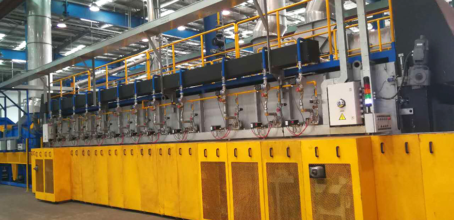 Roller type isothermal normalizing production line