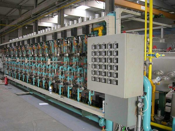 Mesh belt furnace plants