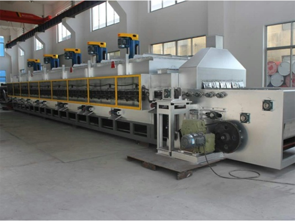 Mesh belt furnace plants