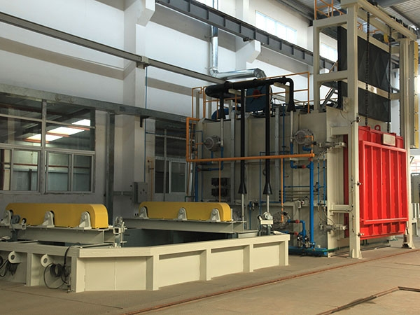 Quenching and tempering line